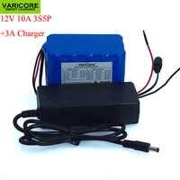 12 V 10Ah grande capacité 18650 lithium batterie protection conseil 12.6 v 3S5P 10000 mAh capacité + 12.6 v 3A chargeur de batterie