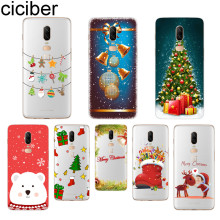 ciciber Merry Christmas Phone Case For Oneplus 7 Pro 6 5 T Soft TPU Back Cover Clear Coque for 1+7 Pro 1+ 6 1+5 T Fundas Shell