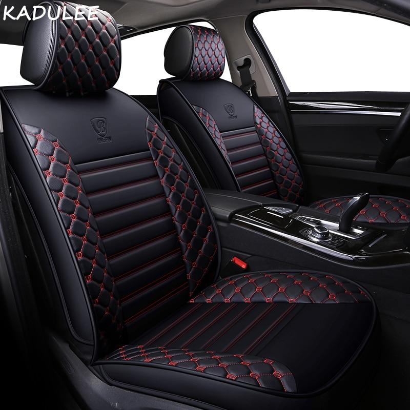 KADULEE PU Leather car seat covers For BMW e30 e34 e36 e39 e46 e60 e90 f10