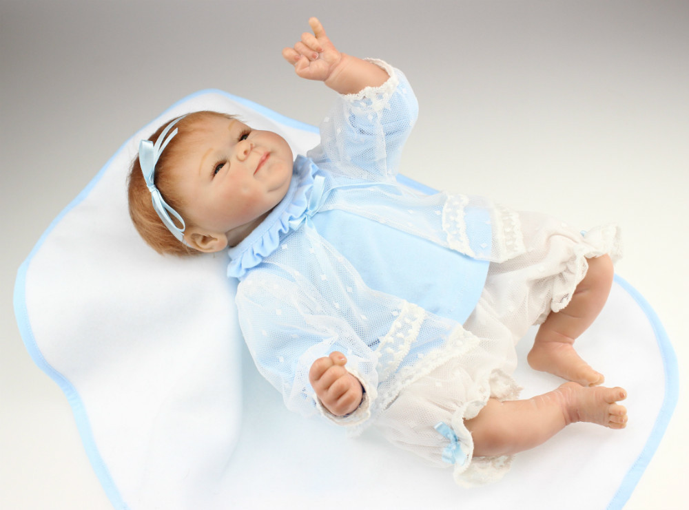 Free shippingNEW hot sale lifelike reborn baby doll wholesale soft real touch baby dolls Christmas gift 17inch