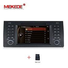 """Бесплатная карта + оригинальный UI 7 """"автомобиль DVD GPS для BMW/E39 X5 E53 с GPS Bluetooth Радио RDS USB SD рулевое управление Бесплатная доставка"""
