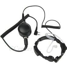 ยุทธวิธีสั่นสะเทือน Throat Throat ไมโครโฟน MIC หูฟังสำหรับวิทยุ Baofeng UV 5R UV B5 B6 UV 5RTP UV 5RA PLUS ขนาดใหญ่ PTT