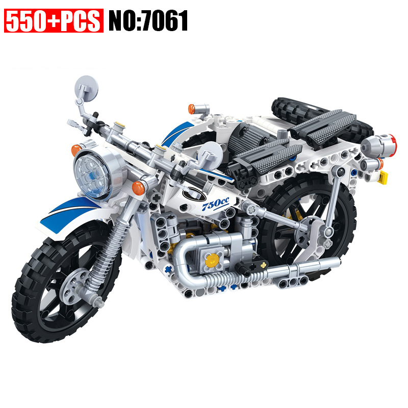 AIBOULLY 7061 550Pcs Technic Motorbike Motorcycle Car bicycle building bricks blocks toys for children gift decool 3353 3354 lepin technic motorbike motorcycle car building bricks blocks toys for children boy game gift bela 8051