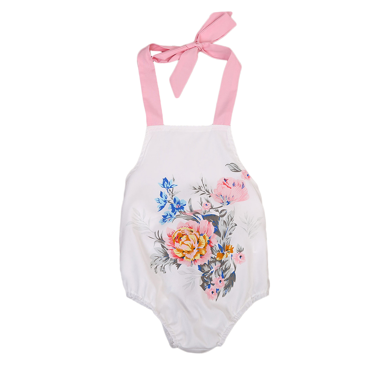 High Quality Newborn Kids Baby Girls Clothes Summer Floral Sunsuit Jumpsuit Sleeveless Romper Outfits Baby Clothing 0-18M