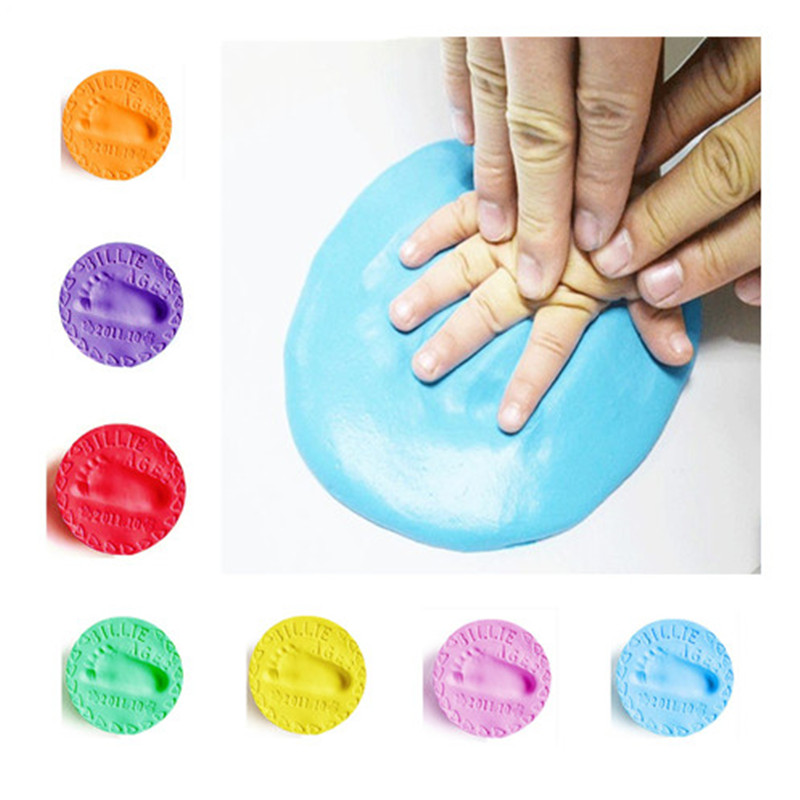 3D Baby Hand Footprint Makers Infant Souvenirs 8 Colors Air Drying Soft Clay Fingerprint Makers Imprint For Kids Gift