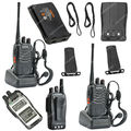 2x baofeng bf-888s uhf 400-470 mhz 5 w 16ch jamón de dos vías walkie radio/talkie lb0534