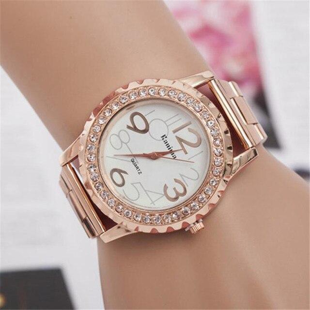 Women Dress Watch Luxury Diamond Dial Wrist Quartz Watches Ladies Butterfly Patt