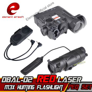 Element M3X Hunting LONG VERSION And DOUBLE REMOTE CONTROL Airsoft Tactical Flashlight DBAL-D2 IR Laser DBAL-EMKII Weapon Light