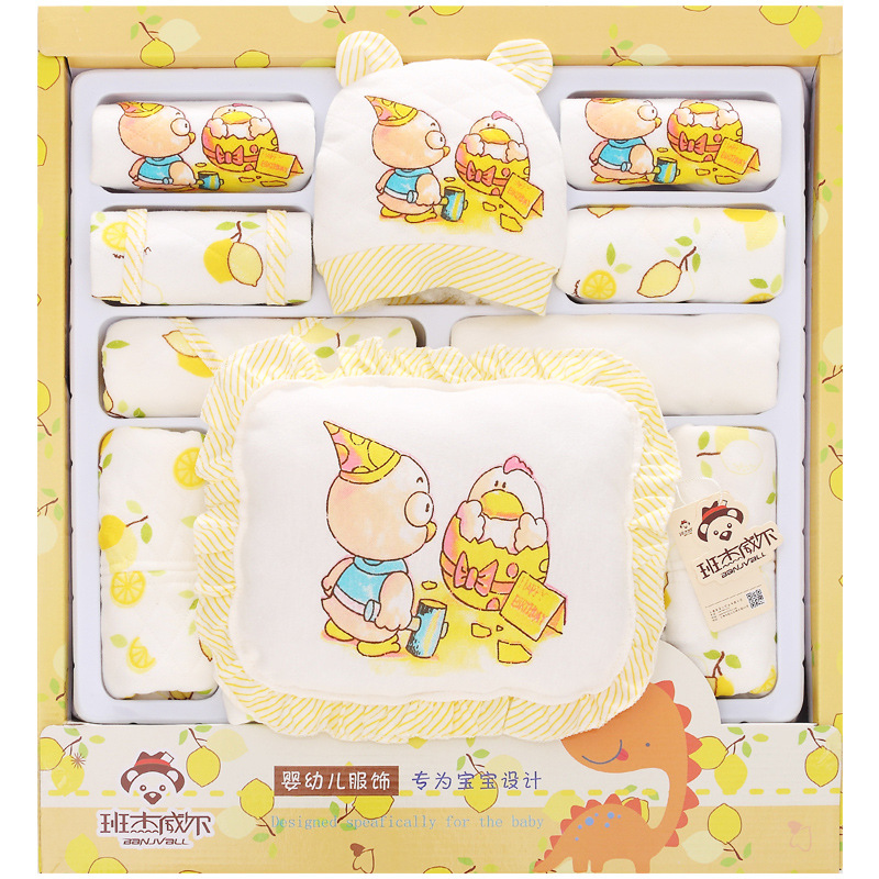100% Cotton Baby Girl Clothes Newborn Gift set Autumn And Winter Thick Long Sleeve Baby Girl Infant Underwear mother nest 3sets lot wholesale autumn toddle girl long sleeve baby clothing one piece boys baby pajamas infant clothes rompers