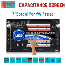 Two Din 7 Inch Car DVD Player For VW PASSAT/B5/MK5/GOLF/POLO/TRANSPORTER With Radio GPS Navigation BT 1080P  free shipping