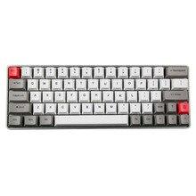 Из Металла Корпуса GK64 Mini механическая клавиатура пользовательские индикаторы directiion ключ RGB механическая клавиатура с сублимации pbt толстые Keycap