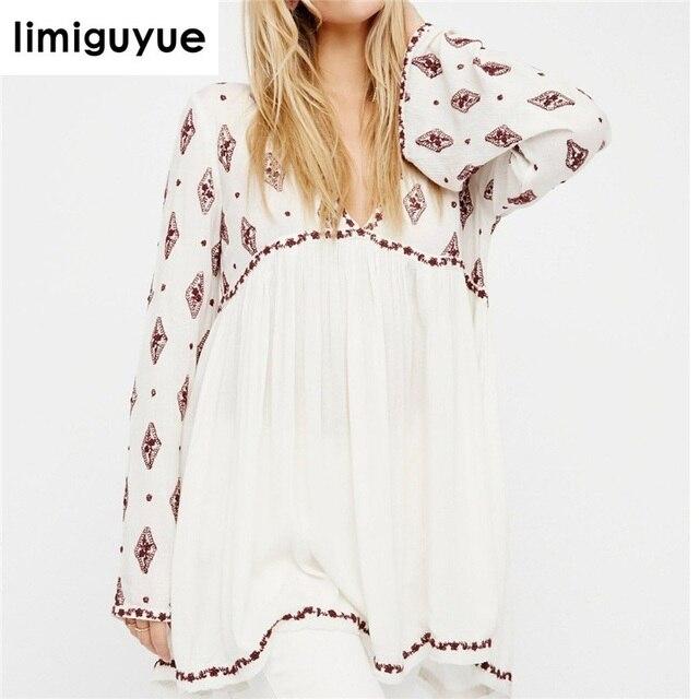 6b5c2c049 € 23.48 32% de DESCUENTO|Aliexpress.com: Comprar Hippie chic Ropa Boho  bohemio Vestido Mujer Loose vintage Bordado mini corto Vestido de playa de  ...