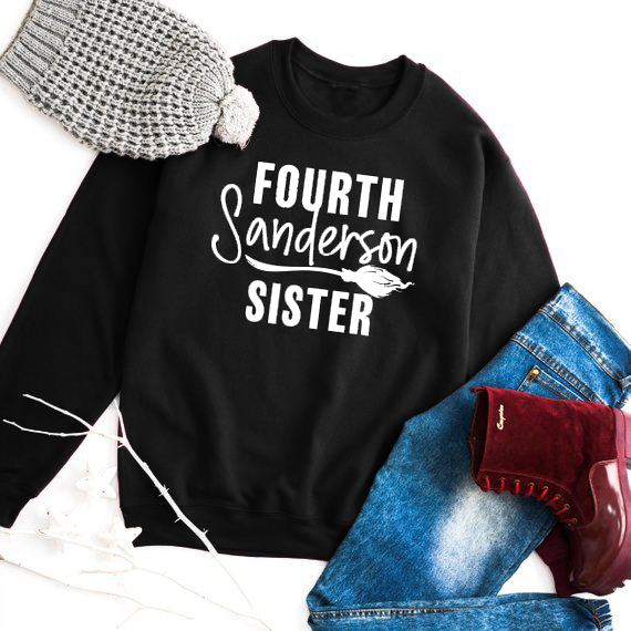 e7ae25565 Fourth Sanderson Sister Sweatshirt O-Neck Spring Letter Tumblr Jumper  Ladies Halloween Aesthetic Tops Style