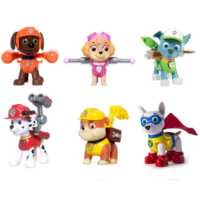 Paw patrol Puppy Dog Anime Toys Figurine Plastic Toy Action Figure model Children Gifts patrulla canina kids toys set paw patrol dog puppy car patrulla canina action figures vinyl doll toy kids children toys gifts