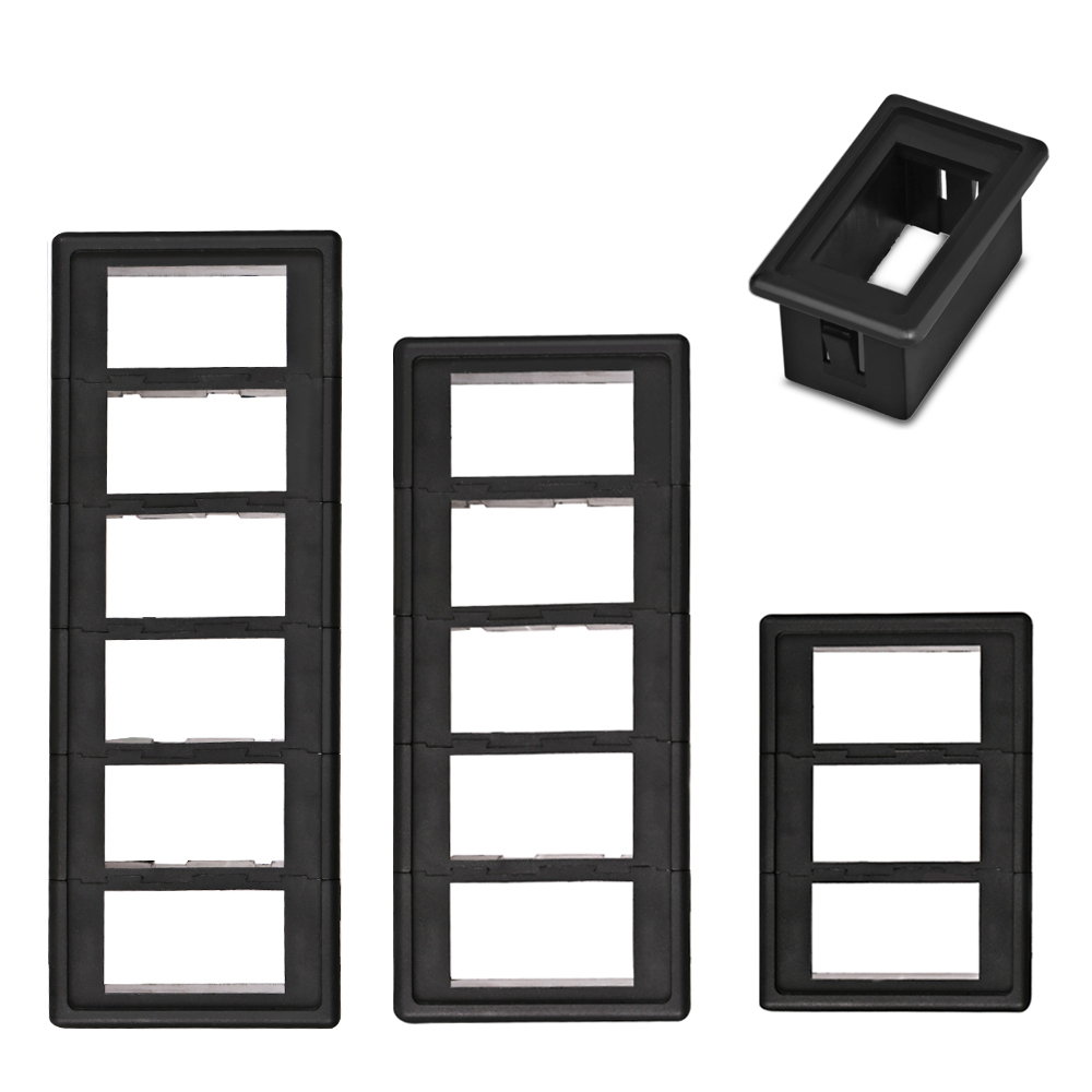 1/2/3/4/5/6 Way Car Auto Boat Rocker Switch Clip Panel Holder Housing For Car-Styling Auto Switches(China)