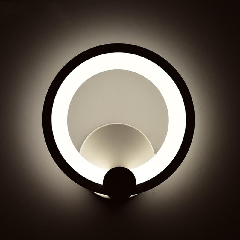 US $14.1 40% OFF|Kreative mode acryl wandleuchten, kreis nacht wohnzimmer  treppen gang hotel schlafzimmer badezimmer spiegel beleuchtung 8 watt led  ...