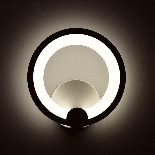 Spiegel Treppen kreative mode acryl wandleuchten kreis nacht wohnzimmer treppen
