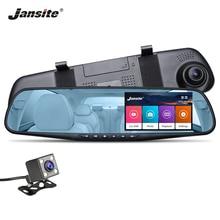 Jansite Автомобильный dvr 4,3 «сенсорный экран двойной объектив Автомобильная камера FHD 1080 P видео рекордер заднего вида зеркало с заднего вида DVR Dash cam авто
