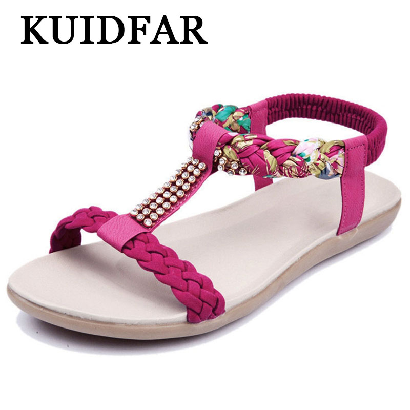 Womens Sandals Womens Summer Shoes Woman Footwear Crystal Soft Leather Beach shoes Sandalias MujerWomens Sandals Womens Summer Shoes Woman Footwear Crystal Soft Leather Beach shoes Sandalias Mujer