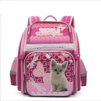 Cartoon Cat Prints High Quality Waterproof Nylon School Bags For Teenager Girls Orthopedic Backpacks Book Bag
