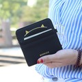 Lovely contracted paragraphs thin short wallet women purse card holder Lady mini wallet keys hanging drop Female card wallet bag