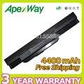 Apexway 6 cell Новый аккумулятор a32-k53 для Asus X84C X84S X84SL X84HR X44HO K53SJ K53SD K53SV K53T K53TA K53U K43B K43BY K43E
