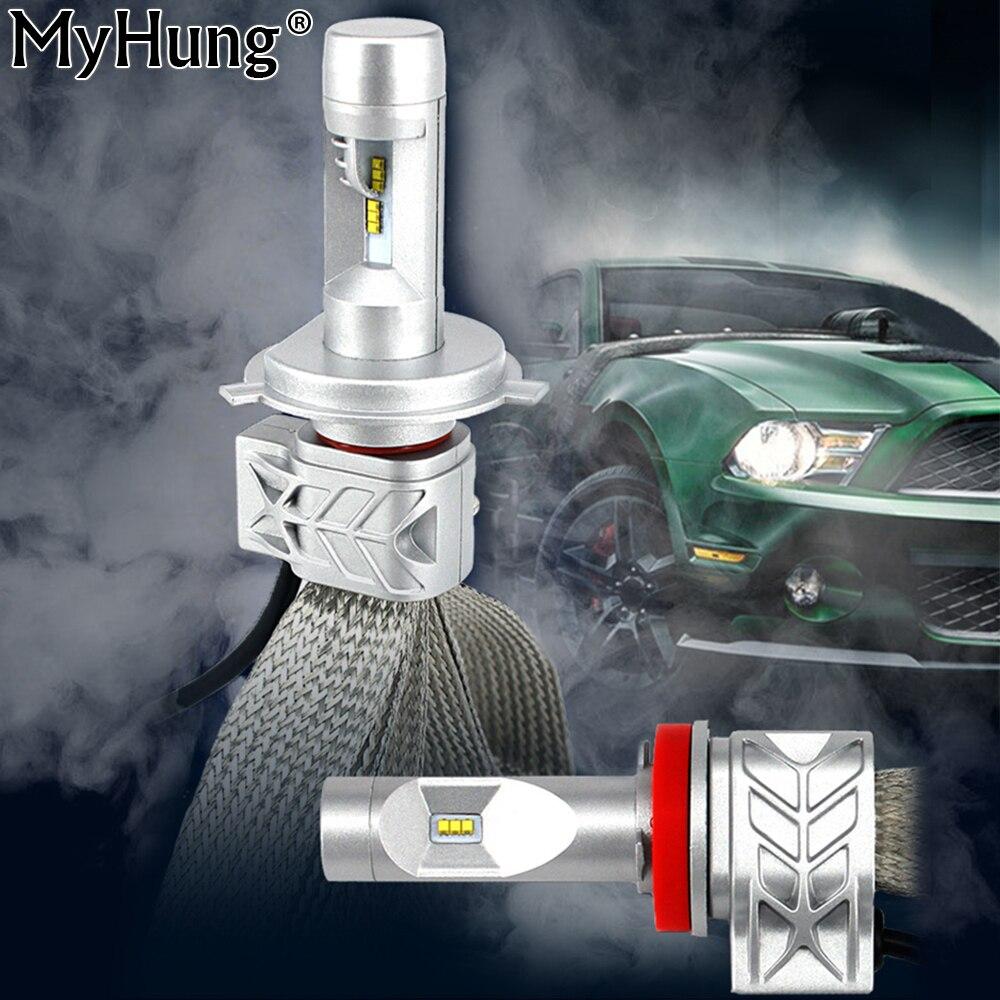 MyHung 5S LED headlight kit H1 H4 H7 H10 H11 9004 5 6 9007 50W 8000LM 6500K Beam Car LED Headlight DRL Driving Lamp рекламный щит dz 5 1 j1c 073 led led jndx 1 s c