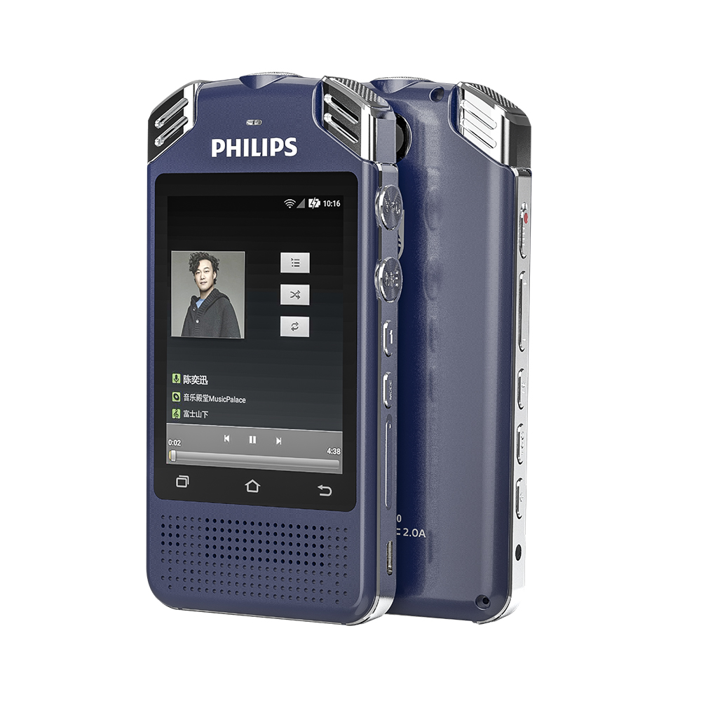Philips WAV WIFI 4G Sound Digital Voice Recorder Professional Voice to Text Dictaphone With Language Translator function VTR8080