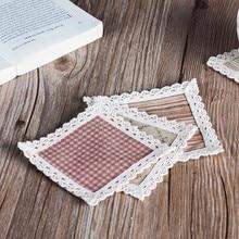 European cotton weaving square heat insulation cup mat 11*11cm free shipping