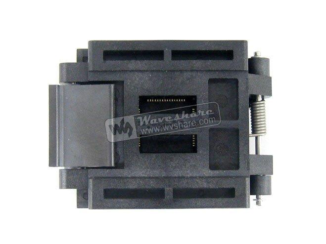 QFP64 TQFP64 LQFP64 PQFP64 Enplas FPQ-64-0.5-06 QFP IC Test Burn-In Socket 0.5mm Pitch xeltek private seat tqfp64 ta050 b006 burning test
