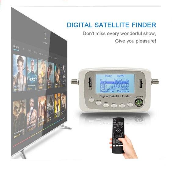 SF-500 Digital Satellite Finder Signal Meter Finder SF500 DVB-S DVB-S2 Parabola satellitare Finder con la BussolaSF-500 Digital Satellite Finder Signal Meter Finder SF500 DVB-S DVB-S2 Parabola satellitare Finder con la Bussola