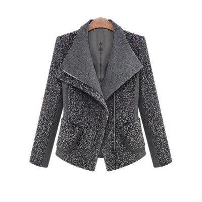 New Europe Autumn Winter Womens Temperament Woolen Jackets Coats Female Casual Clothing  ...