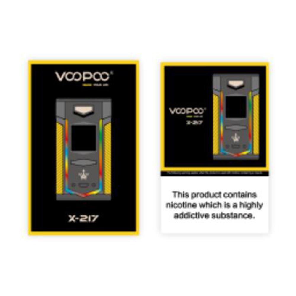 Nouveau Original VOOPOO X217 TC boîte Mod 217 W électronique Cigarette Vape gène. ventilateur puce TFT IPS HD écran VS glisser 2/Shogun/Luxe Mod - 6