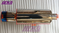 63mm inlet/102mm Outlet  Universal 304 Stainless Steel Burned Blue Silencer exhaust pipe car muffler (Diameter: 141MM)