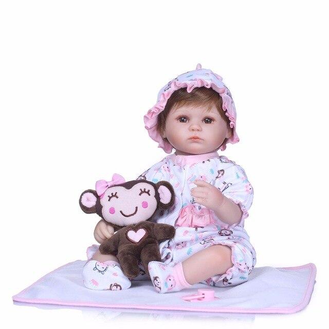 Handmade Dolls Reborn Silicone Realistic Bonecas Baby Girl Toys 1