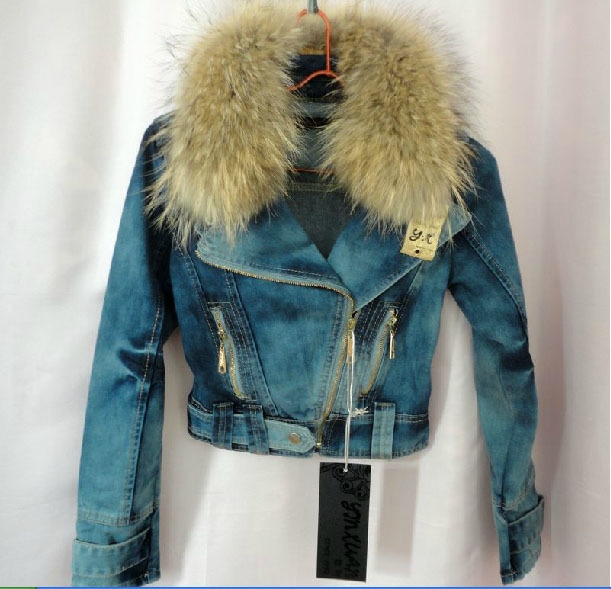 Popular Fur Jean Jacket-Buy Cheap Fur Jean Jacket lots from China ...