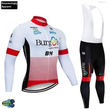 Team BH Burg-Conjunto de Ropa de Ciclismo de manga larga, 12D, rojo,...