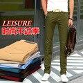 Moda Verão Homens calças de Algodão Confortáveis calças Masculinas calças basculador casuais calças retas plus size 28-38 Frete Grátis