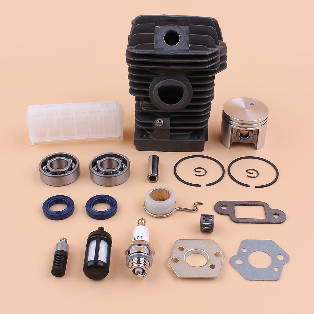 42.5MM Cylinder Piston Engine Motor Rebuild Kit For STIHL 025 MS250 023 MS230 MS 230 250 Chainsaw with Bearing Oil Seal Filters42.5MM Cylinder Piston Engine Motor Rebuild Kit For STIHL 025 MS250 023 MS230 MS 230 250 Chainsaw with Bearing Oil Seal Filters