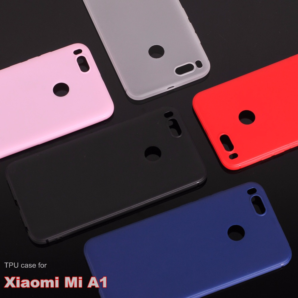 Xiaomi mi a1 case silicone cover Soft TPU case for xiaomi mi a1 mia1 mi5x Matte surface, non-slip, anti-fingerprint