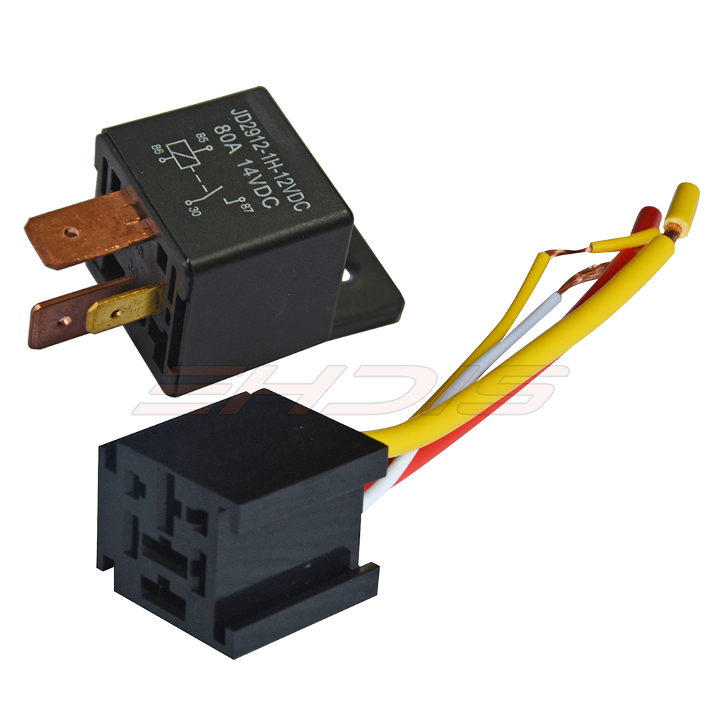 Automotive Relay 12v 24v 80a 4pin Car Relay With Black Red