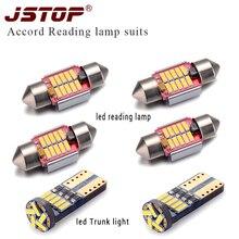 JSTOP 6 peças/set led light reading t10 canbus levou 12 V C5W 31mm festão lâmpadas led Trunk luz w5w t10 Luz Interior lâmpada de leitura