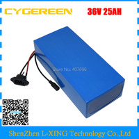 Free customs fee 1500W 36V 25AH Battery pack 36V lithium Battery 36Volt electric bike battery with 50A BMS 42V 2A Charger