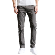 Men Pants Casual Pant Pencil Trousers Fashion Business Cotton Slim Straight Cargo Red Grey Navy Blue Yellow