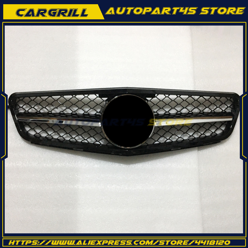 New For Mercedes <font><b>Benz</b></font> <font><b>W204</b></font> C63 Grille <font><b>Grill</b></font> 2008-2013 C-Class AMG Chrome Silver image