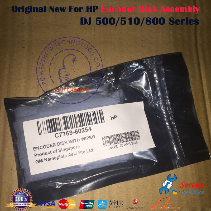 US $32 5 |Original New Encoder Disk Assembly C7769 60254 C7769 60065 For  HP500 HP510 HP800 HP 500 800 510 plotter parts-in Printer Parts from  Computer