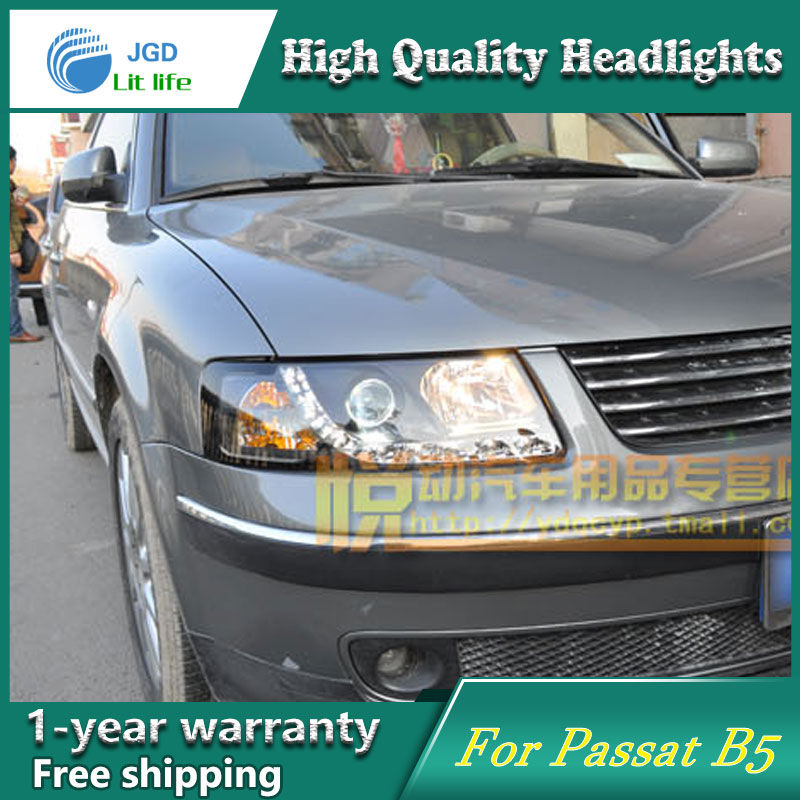 цена на high quality Car styling case for VW Passat B5 1998-2005 Headlights LED Headlight DRL Lens Double Beam HID Xenon car accessories