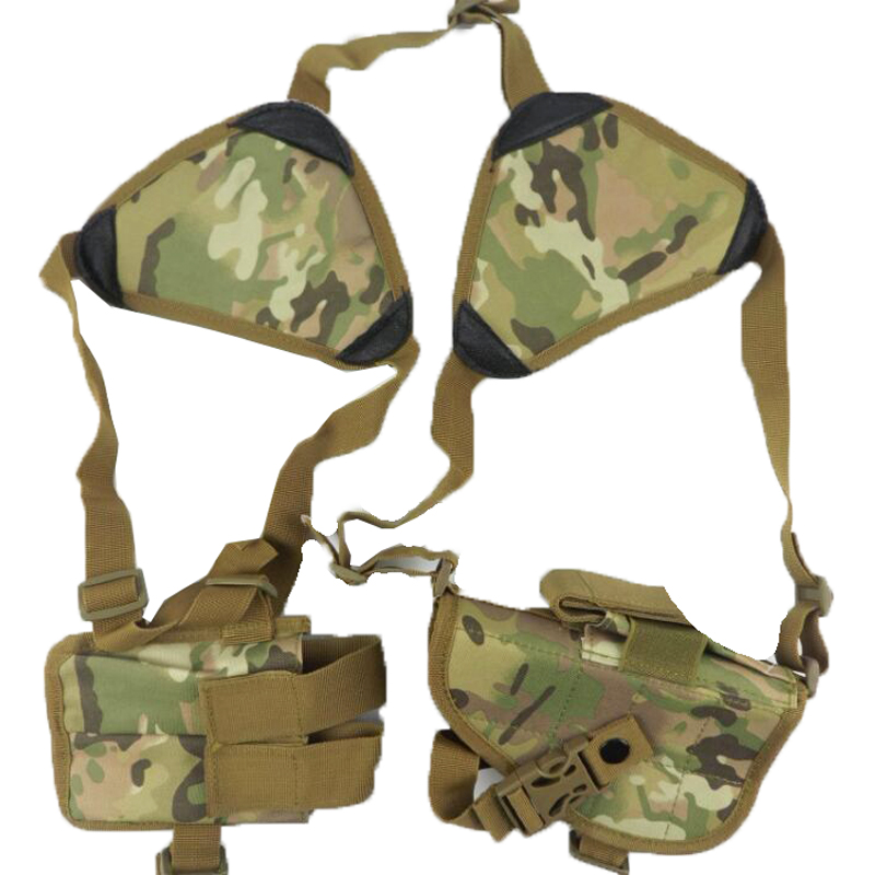 High Denisty Nylon Ajustable Tactical Shoulder Holster With Pouch Bag Hunting Belt Duty Airsoft Gun Holster For War CS Games