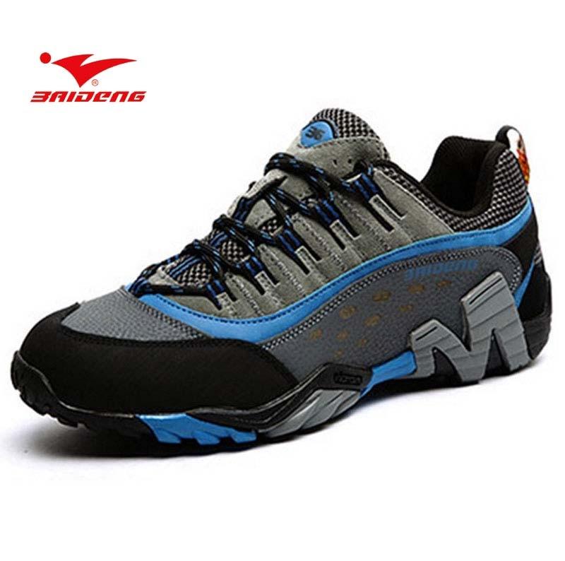 BAIDENG Brand Waterproof Shoes Women Men Design Outdoor Sport Hiking Climbing Sneaker Walking Trekking Shoes Boots 2016 man women s brand hiking shoes climbing outdoor waterproof river trekking shoes