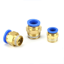1/4BSP 1/2 1/8 3/8 Male Thread Air Pipe Connector Quick Coupling Brass Fitting Air Pneumatic 4mm 6mm 8mm 10mm 12mm Hose Tube 1 2 pt thread 6 ports 3 ways quick connector air hose manifold block splitter